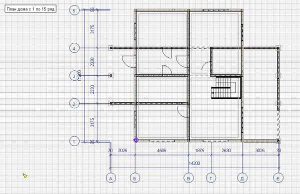 006 Plan 1 etazha 600x389 - Дом 9x11 из профилированного бруса 200x150 и 150x150. Проект ВСН-006-2018. 211м2