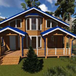 1 15 300x300 - Дом из профилированного бруса 190x140, двухэтажный, площадь=167м2