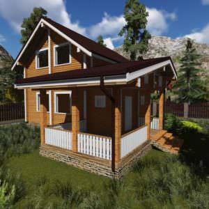 1 16 300x300 - Дом из профилированного бруса 200x130, двухэтажный, площадь=128м2