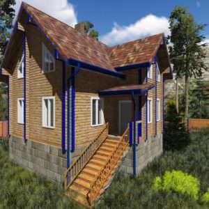 1 21 300x300 - Дом из профилированного бруса 200x150, двухэтажный, площадь=125м2