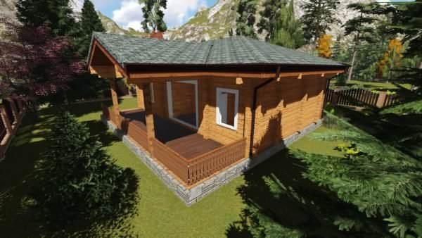 1 3 600x338 - Дом из профилированного бруса 200х200 одноэтажный, площадь=124м2