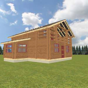 1 31 300x300 - Дом 8х10 с балконом из профилированного бруса 180х180