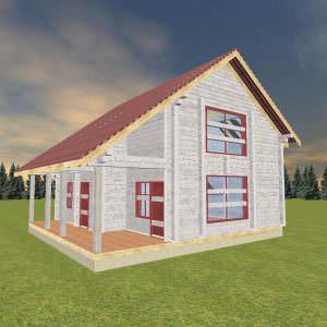 1 36 300x300 - Дом 9х10 из сухого профилированного бруса 200х200