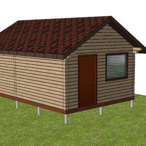 1 4 300x300 - Дом из оцилиндрованного бревна, диаметром 200, площадью 108 м2