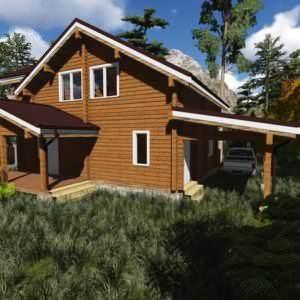 1 5 300x300 - Дом из профилированного бруса 180x180, двухэтажный, площадь=163м2
