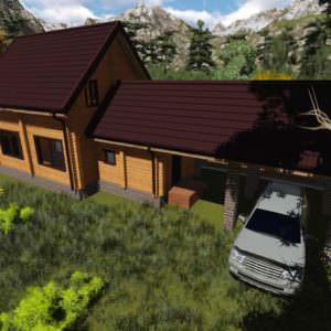1 6 300x300 - Баня из профилированного бруса 180x130, двухэтажная, площадь=92м2