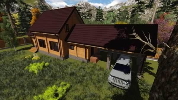 1 6 600x338 - Баня из профилированного бруса 180x130, двухэтажная, площадь=92м2