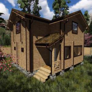 1 7 300x300 - Дом-баня из профилированного бруса 180x142, двухэтажный, площадь=93м2