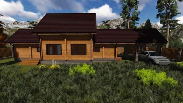 2 6 600x338 - Баня из профилированного бруса 180x130, двухэтажная, площадь=92м2