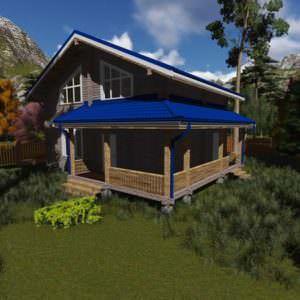 2 8 300x300 - Дом из профилированного бруса 180x142, двухэтажный, площадь=153м2