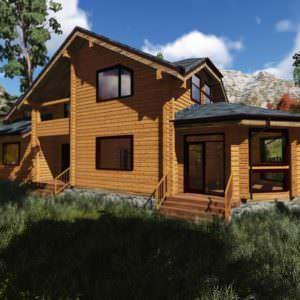 2 9 300x300 - Дом из профилированного бруса 180x180, двухэтажный, площадь=230м2