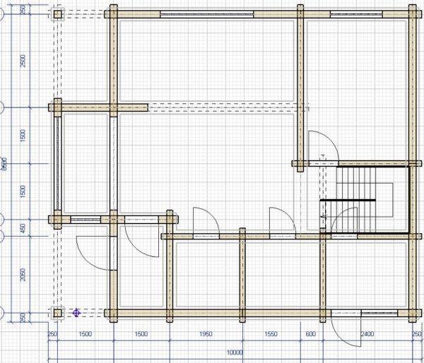 Проект дома из профилированного бруса 8,5x10м