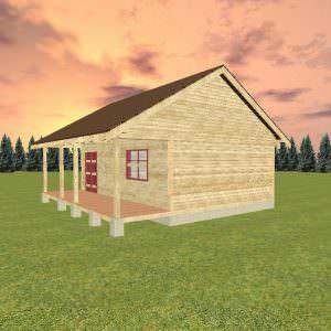 3 32 300x300 - Дом 6х8 из профилированного бруса 150х150 с верандой и крыльцом