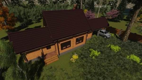 3 6 600x338 - Баня из профилированного бруса 180x130, двухэтажная, площадь=92м2
