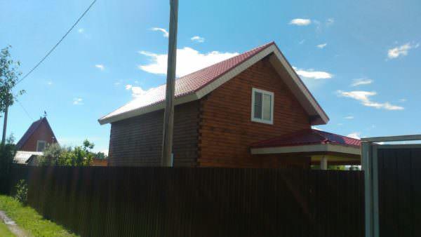 9 1 600x338 - Дом 6х9 с террасой из профилированного бруса 150х150