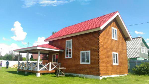 9 3 600x338 - Дом 6х9 с террасой из профилированного бруса 150х150