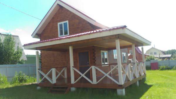9 6 600x338 - Дом 6х9 с террасой из профилированного бруса 150х150
