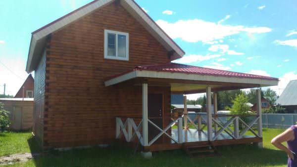 9 600x338 - Дом 6х9 с террасой из профилированного бруса 150х150