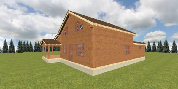 Fasad 2 2 600x300 - Домокомплект дома 14,8х17,8 из профилированного бруса 200х200