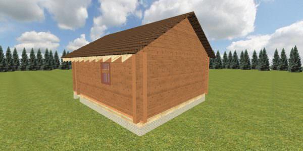Fasad 3 1 600x300 - Баня 6х7 из сухого профилированного бруса 180х180 с фундаментом