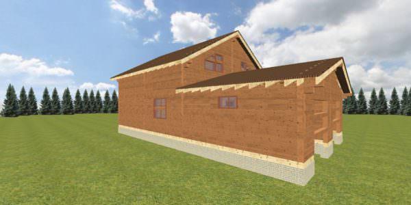Fasad 3 2 600x300 - Домокомплект дома 14,8х17,8 из профилированного бруса 200х200
