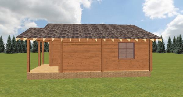Fasad 3 600x317 - Домокомплект дома 6х9 из профилированного бруса 200х200