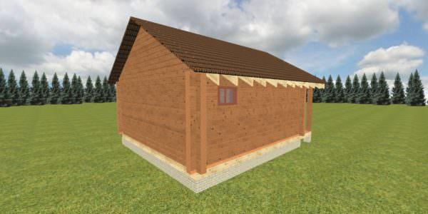 Fasad 4 1 600x300 - Баня 6х7 из сухого профилированного бруса 180х180 с фундаментом