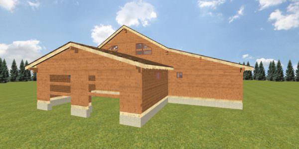Fasad 4 2 600x300 - Домокомплект дома 14,8х17,8 из профилированного бруса 200х200