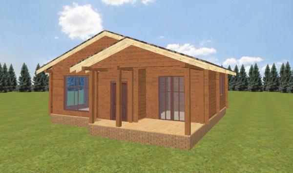 Fasad 4 600x356 - Домокомплект дома 6х9 из профилированного бруса 200х200