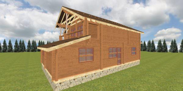 Fasad 5 1 600x300 - Дом из профилированного бруса с гаражом цена