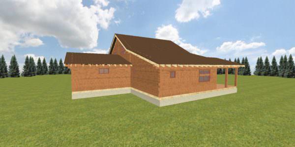 Fasad 5 600x300 - Домокомплект дома 14,8х17,8 из профилированного бруса 200х200