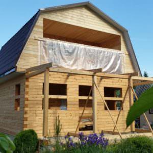 IMG 20180619 WA0008 300x300 - Двухэтажный дачный дом с верандой из профилированного бруса 150х150
