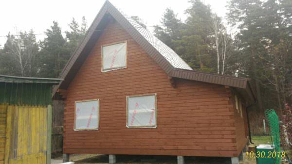 IMG 20181030 WA0005 600x338 - Двухэтажный дачный дом 7,6х7,6 с верандой из профилированного бруса 150х150