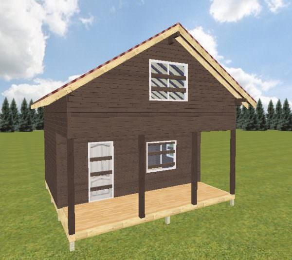 Ivan 6h6 1 600x533 - Дачный дом с верандой из профилированного бруса 100x150