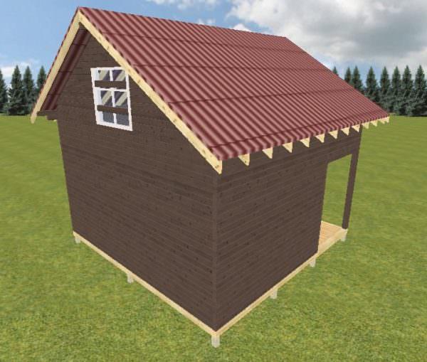 Ivan 6h6 2 600x509 - Дачный дом с верандой из профилированного бруса 100x150