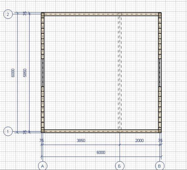 Ivan 6h6 plan 2 600x545 - Дачный дом с верандой из профилированного бруса 100x150