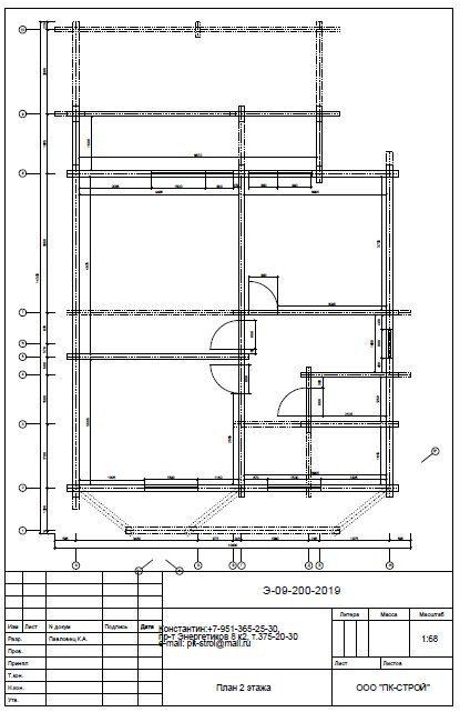 Plan 2 etazha 3 - Дом из профилированного бруса с гаражом цена