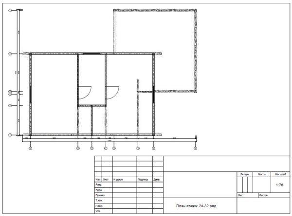 Plan 2 etazha 4 600x445 - Дом 6х9 с террасой из профилированного бруса 150х150