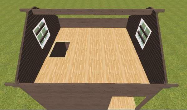 Shema 2 etazha 600x354 - Дачный дом с верандой из профилированного бруса 100x150