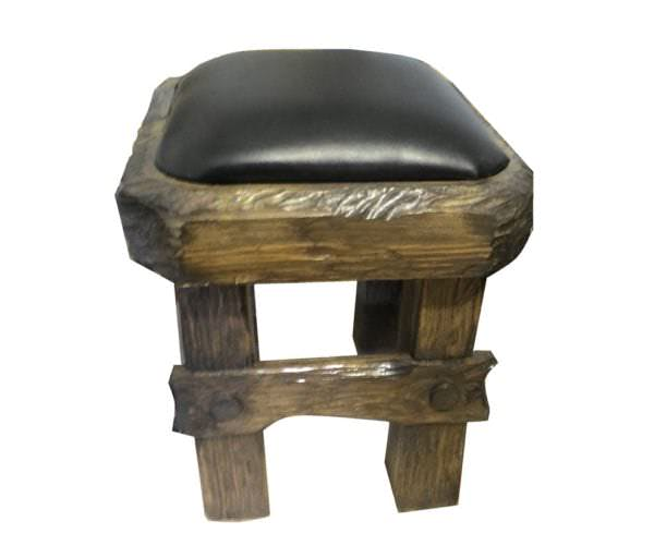 Starina stulya 1 600x512 - Табурет из кедра с мягким сиденьем под старину