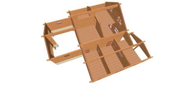 Sverhu 1 1 600x300 - Домокомплект дома 14,8х17,8 из профилированного бруса 200х200