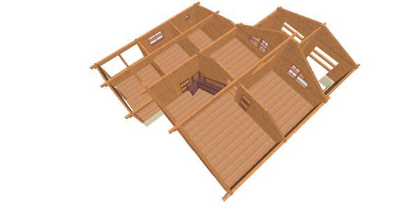 Sverhu 2 1 600x300 - Домокомплект дома 14,8х17,8 из профилированного бруса 200х200