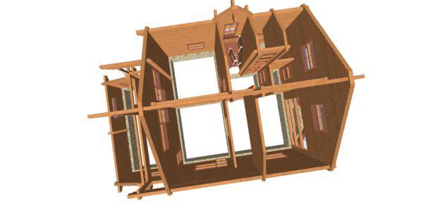 Sverhu 2 2 600x300 - Дом из профилированного бруса с гаражом цена