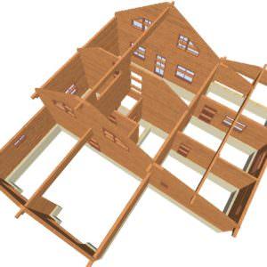 Sverhu 4 300x300 - Домокомплект дома 14,8х17,8 из профилированного бруса 200х200