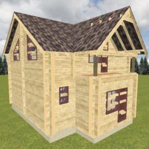 Vid 1 300x300 - Проект дома из профилированного бруса 220х150 и 150х150 S=105м2