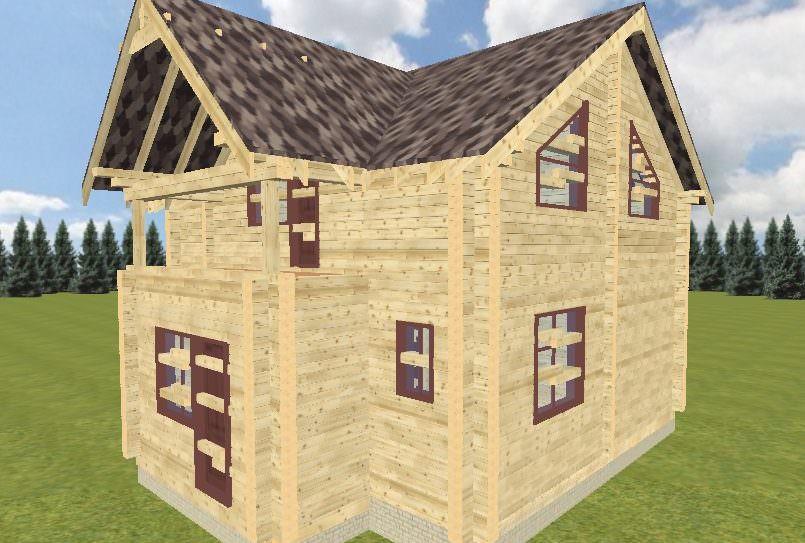 Vid 2 805x543 - Проект дома-бани из профилированного бруса 220х150
