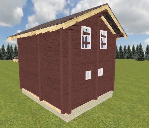Vid 3 15.01.19 600x519 - Проект дома-бани 5x6 из кедра 200x150