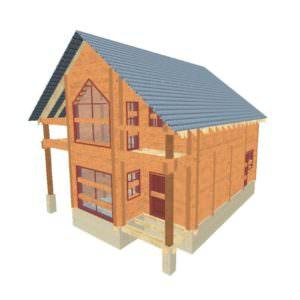 fasad 1 01 300x300 - Проект дома из профилированного бруса 8,5x10м