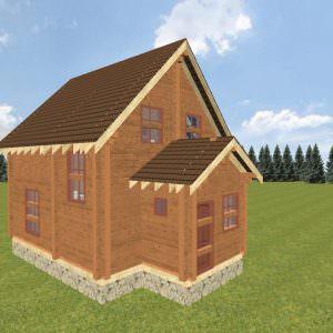 fasad 1 5 300x300 - Домокомплект дома 6х9 из профилированного бруса 200х200