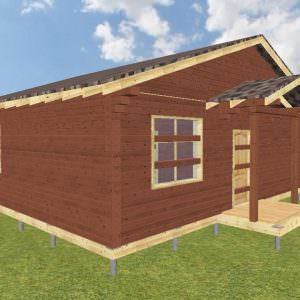fasad 1 7 300x300 - Проект дома 8х9 из профилированного бруса 200х150 и 150х150 цена